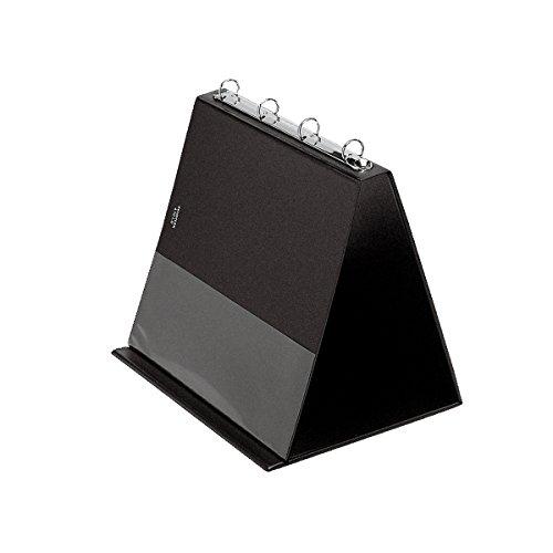 Veloflex Tisch-Flipchart/4101080 A4 quer schwarz PVC
