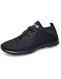 Vibdiv Men's Water Shoes Aqua Quick Drying Mesh Outdoor Shoes