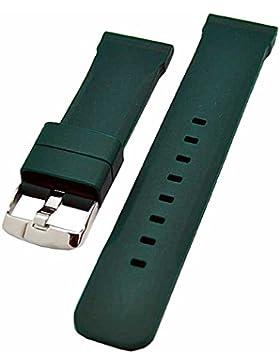 Uhrenarmband Silikon Kautschuk 24mm Taucher grün 3825