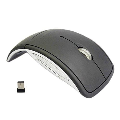 Tenflyer Ultra Thin 2,4-GHz-faltbare drahtlose Arc optische Mäusemaus mit Mini-USB-Empfänger für Pad PC Laptop Notebook-Computer Nano 4 Snap