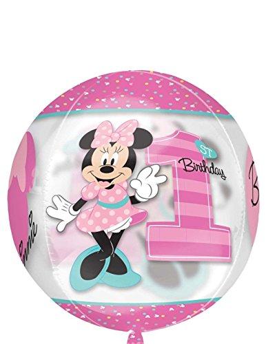 Amscan International 343810115Zoll Minnie Maus Folienballon klar Orbz, 1. Geburtstag Mädchen
