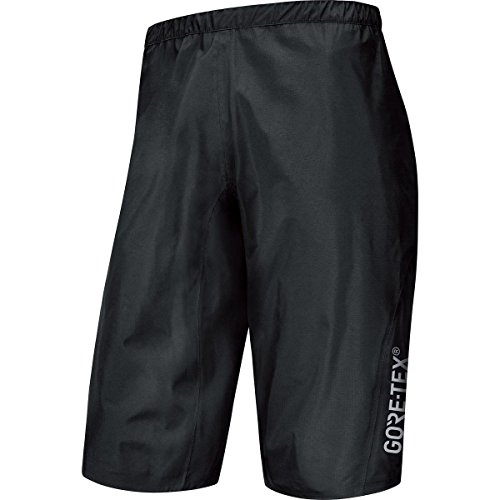 GORE BIKE WEAR Herren Knielange Regen Überzieh-Mountainbike-Hose, GORE-TEX Active, POWER-TRAIL Shorts, Größe: XL, Schwarz, TGSPOW (Gore-tex-shell-hose)