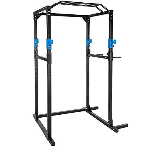 TecTake Multiestación de Fitness para Entrenamiento | 2 puntales de Seguridad macizos | Poleas para Barras de...
