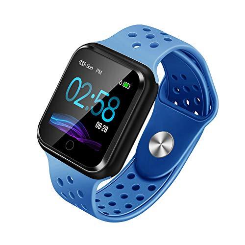 WAFA Fitness Armband mit Pulsmesser Blutdruck, Wasserdicht Fitness Tracker Smartwatch Sportuhren Aktivitätstracker Pulsuhren Schlafen Sport Data Monitor Vibrationsalarm Anruf SMS für Damen Männer (Blutdruck-monitor Mit Uhr)