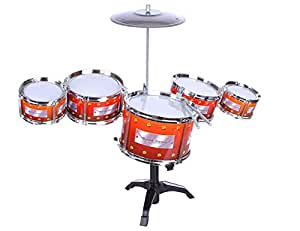 HALO NATION Jazz Drum Set Musical Instrument for Kids - Pack of 9 Pcs
