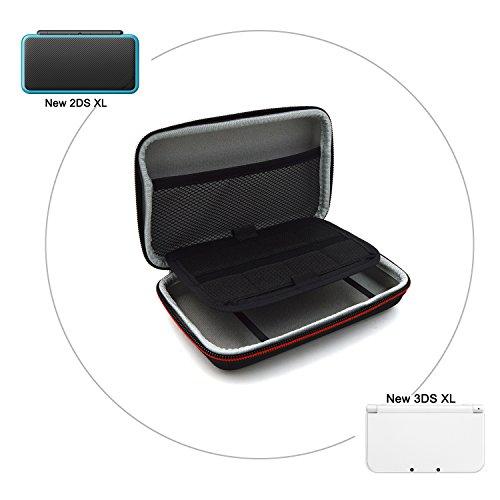 New Nintendo 2DS XL 3DS XL Tasche - EOVOLA Hart Reise Hülle Case für Nintendo New 2DS XL / New 3DS XL Konsole und Zubehör Schutzhülle Etui (Schwarz)