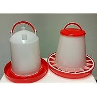 Futterspender für Geflügel 1,5 KG PLUS Stülptränke 1,5 Ltr. NEU: ANTIBAKTERIELL
