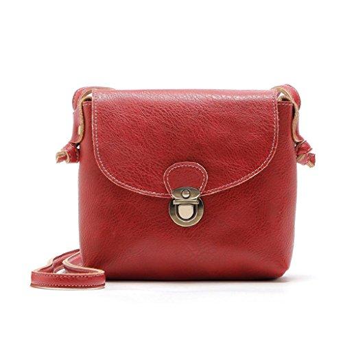 2017 Borse donna,Kangrunmy®Donne borsa di cuoio di signora Satchel Handbag Borsa a tracolla Tote Rosso
