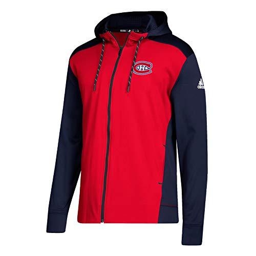 Montreal Zip (adidas Montreal Canadiens NHL Full-Zip Hoodie Sweatshirt, L)