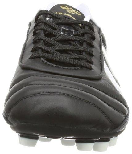 Hummel OLDS SCHOOL DK FG KANGEROO 61-306-2403 Unisex-Erwachsene Fußballschuhe Schwarz (BLACK/WHITE/GOLD 2403)