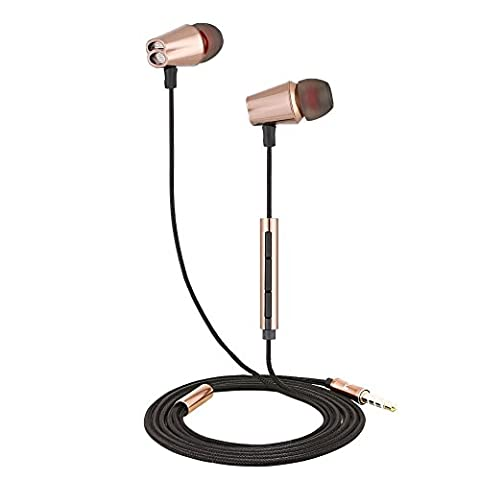 Zeceen B80 Bass Control Headphones,Bass In Ear Headphones,Bass Earbuds,Noise Cancelling & Volume Control Earbuds Stereo Audio High Definition Earphones , for iPhone,ipad, Android, DJ tuner and