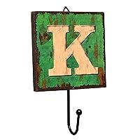 Panda Legends Creative Retro Style Wall Hooks Wood Material Letter Pattern Decorative Hook (K)