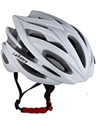 Leadtry HM-1 Bicycle Helmet Ultralight Integrally Molded EPS Bike Helmet Safety Helmet Specialized for Road/ Mountain Terrain Bicycle with Comfortable Removable Washable Antibacterial Pads (blanco)