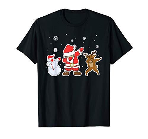 Dabbing Weihnachtsmann für Kinder Männer GeschenkeTshirt T-Shirt