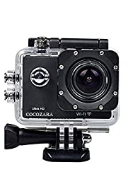 J Cocozara SJ-8000 Action Camera Ultra HD Video Recording 1920x1080p 60fp Action camera With Wifi- 16 Megapixels Black