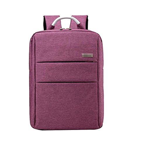 Unisex Großartige Qualität Klassischer Durable Wild Business Casual Laptop Rucksäcke Gepäcktasche Multicolor Purple