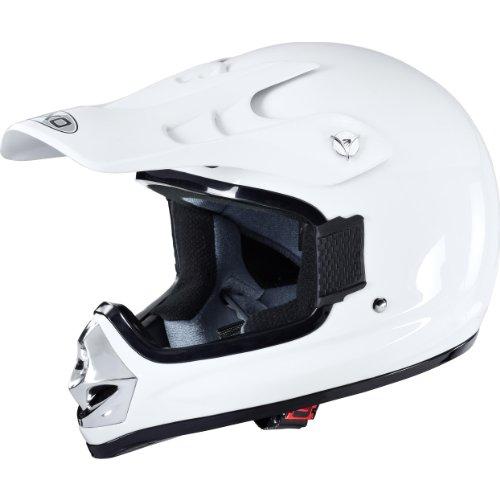 Nexo Motorradhelm, Crosshelm, Motocrosshelm MX Kid 2.0, Kinder-Motorradhelm für Jungen und Mädchen, 1.200 g, Thermoplast, mehrfache Belüftung, Schnellverschluss (Klickverschluss), Weiß, S - XL