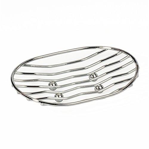 ArtMoon Teslin Oval Soap Dish Chrome Plated Steel 13X9.6X4 cm