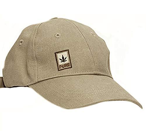 PURE HF-0028 Hanf Baumwolle Basecap, Camel - Hanf Cap