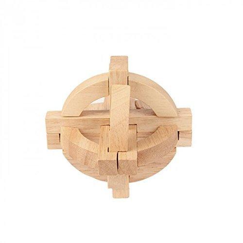 SainSmart Jr. Sparkle CB-13 Wooden Lock Toy (Original Burr Puzzle)