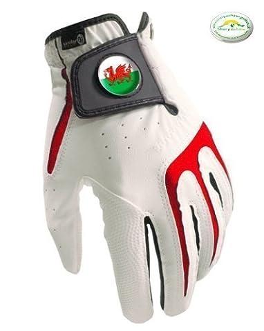 Tous Temps Hommes Gants De Golf S1 Collection Galles Drapeau + Marqueur De Balle Sherpashaw Gratuit - XL