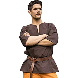 Epic Armoury- Shirt Odin-Dark Brown-XL/2XL camisa, Color marrón oscuro (Iron Fortress 30052861)
