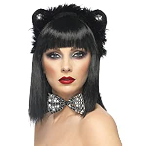 Déguisement chat - panoplie chat noir et argent - set costume chat - accessoires de chat - accessoires de costume déguisement de chat