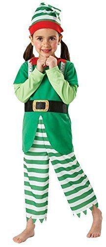 Girls Boys Santa's Helper hilfreich Kostüm Elf, Größe, Grün, 116 (Santa's Helper Elf Kostüm)