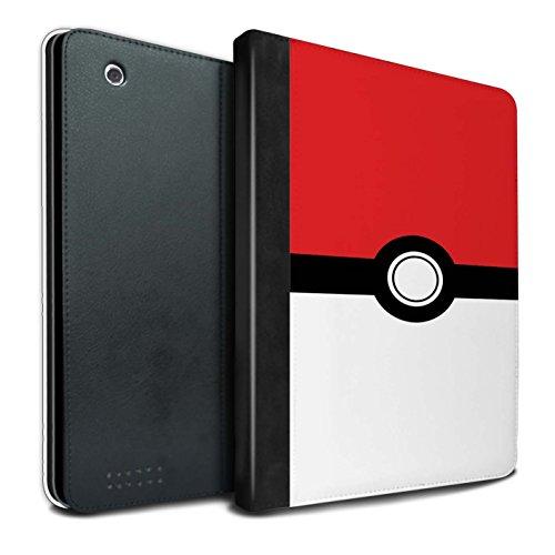 Tablet Für Pokemon-hülle (STUFF4 PU-Leder Hülle/Case/Brieftasche für Apple iPad 2/3/4 tablet / Rot Muster / Pokeball Anime Inspiriert Kollektion)