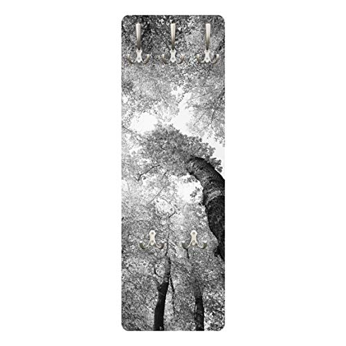 Apalis 78620 Wandgarderobe Bäume des Lebens II | Design Garderobe Garderobenpaneel Kleiderhaken Flurgarderobe Hakenleiste Holz Standgarderobe Hängegarderobe | 139x46cm