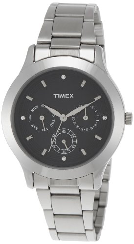 Timex E-Class Multi Function Analog Black Dial Women's Watch - TI000Q80400 image