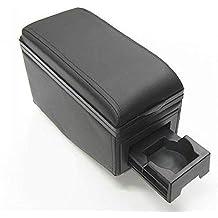 Apoyabrazos Consola Central Reposabrazos Negro Tuning Acolchado Soporte Caja de Consola Posavasos