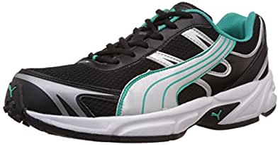 Puma Men's CARLOS Ind. Black, Puma Silver and Atlantis Mesh Running Shoes - 11 UK /India(46EU)