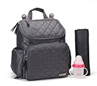 MSF Multifunction Smart Organizer System Backpack Baby Nappy Changing Bag With Changing Pad Stroller Straps Gray