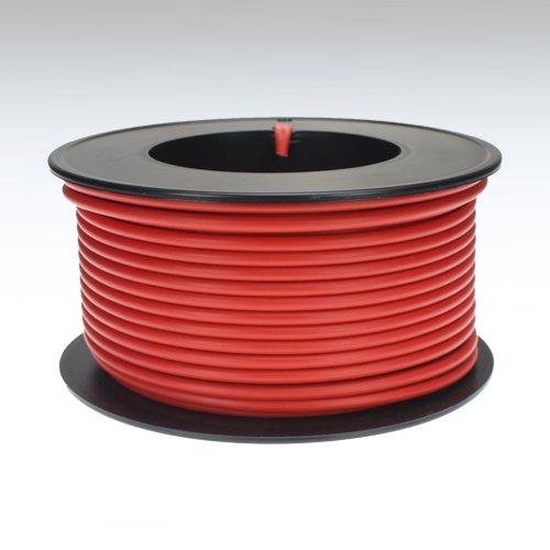 Preisvergleich Produktbild Kabel 2,5 qmm rot 25m Litze Leitung Fahrzeug Auto