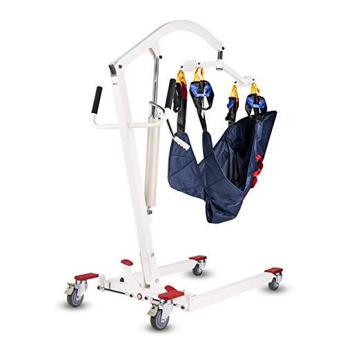 41zwddjanaL - YXP Elevador de Pacientes hidráulico Plegable con Eslinga de Transferencia, Unidad de Transporte de Pacientes con Asistencia de Soporte, Capacidad de Peso de 400 LB, para Personas discapacitadas