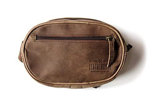 Leathercore Gürteltasche aus echtem Leder für Herren und Damen, Hüfttasche, Organizer, verstellbarer Gürtel zum Tragen von Handy, Sport, Wandern, Reisen, Radfahren 8