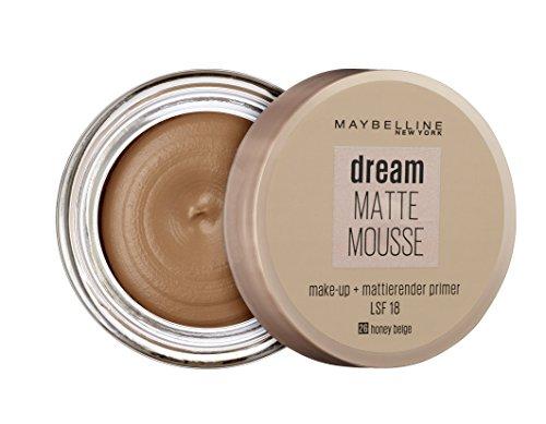 Maybelline Dream Matte Mousse Make-up Nr. 26 Honey Beige, mattierendes Make-up mit luftgeschlagener Mousse-Textur, für ein luftig-leichtes Tragegefühl und wunderbar zarte Haut, 18 ml - 2