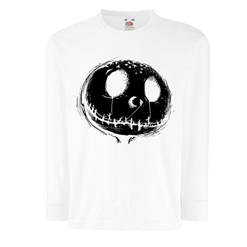 angen Ärmeln beängstigend Schädel Gesicht - Alptraum - Halloween-Party-Kleidung (14-15 Years Weiß Mehrfarben) ()