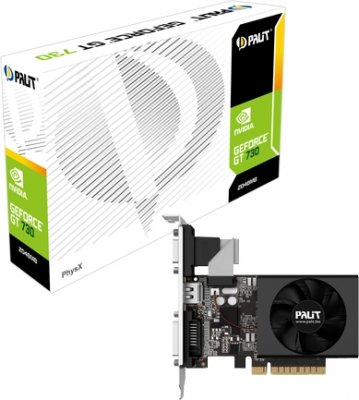 Palit Nvidia Gt 730 2gb Ddr3, 64 Bit, Fan, Crt Dvi,hdmi Graphic Card