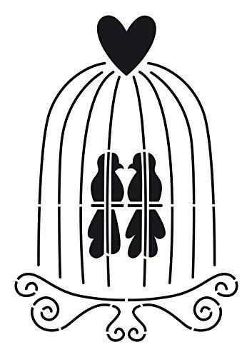 Artemio Pochoir A4 Cage à Oiseaux