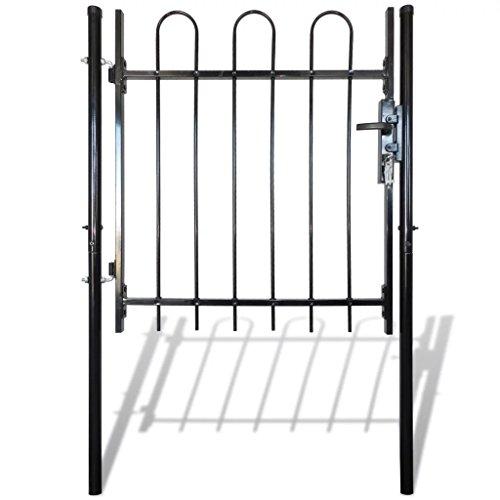 Vidaxl cancello recinzione singolo con cime arrotondate 100 x 150 cm