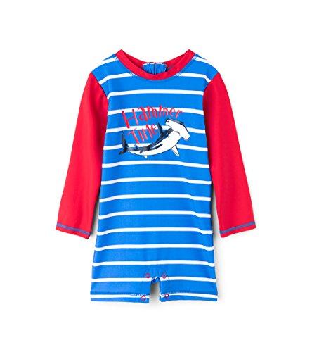 Hatley One-Piece Rash Guard Swimsuits Maillot, Blue (Surf Island), 6-9 Mois Bébé garçon