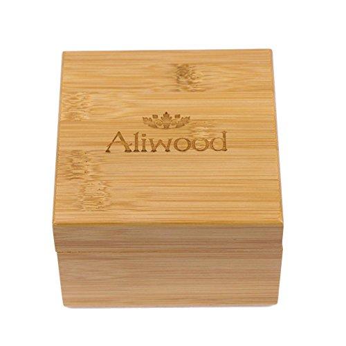Freedomanoth Holzgeschenkbox beobachten Bewahren Sie Ringe, Uhren, Kosmetika, Geld und sogar getrocknete Kräuter für den persönlichen Gebrauch auf