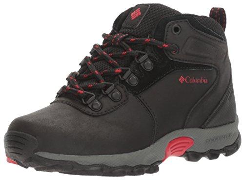 Columbia Youth Newton Ridge, Chaussures Bébé Marche Mixte Enfant Noir (Black, Mountain Red 010)