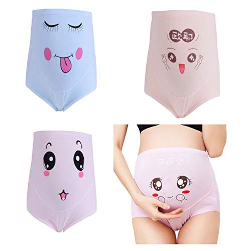 Ketamyy Mujer Bragas Maternidad para Embarazadas Calzoncillo Ajustable De Premamá Cintura Alta Apoyo El Vientre Pregnant Underwear 2# Pack de 4 A XL