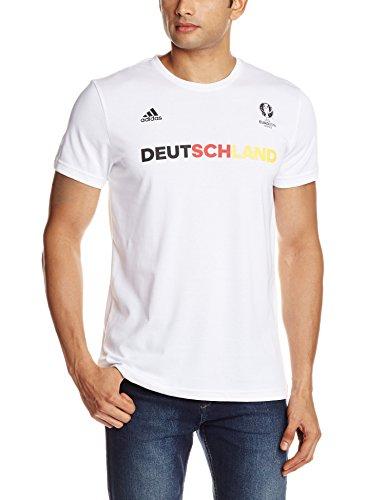 adidas Herren T-Shirt Deutschland Graphic, White, M