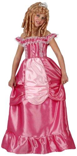 ATOSA 8422259159384 - Verkleidung Prinzessin, Mädchen, Größe: 140, rosa (Renaissance-streifen)