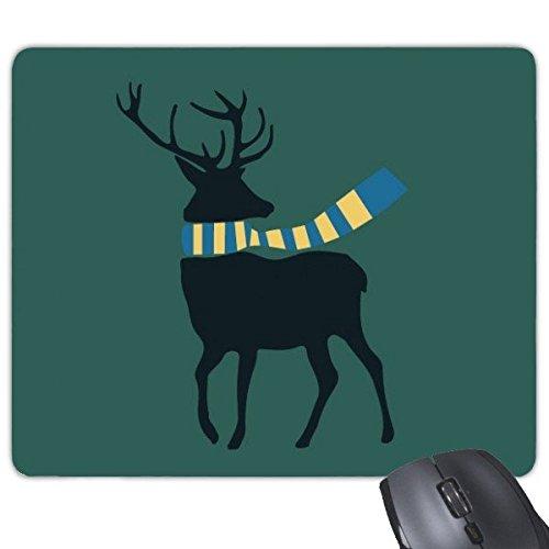 DIYthinker Weihnachten Elk Schal Festival Illustration Muster Rechteck Griffige Gummi Mousepad Spiel-Mausunterlage (Add-on-schals)
