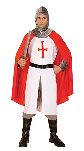 Bristol Novelty AC880 Der Heilige Georg Kreuzritter Kostum, Rot